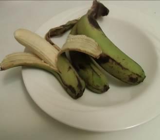 マダガスカルの緑のバナナ