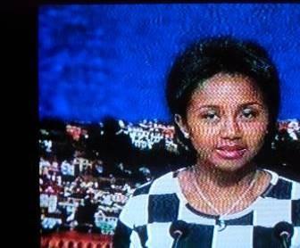 マダガスカル丸顔テレビニュースのアナウンサー