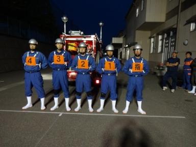 田上消防分団の勇士