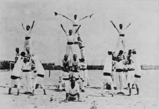 ドイツ兵捕虜大阪俘虜収容所体操1