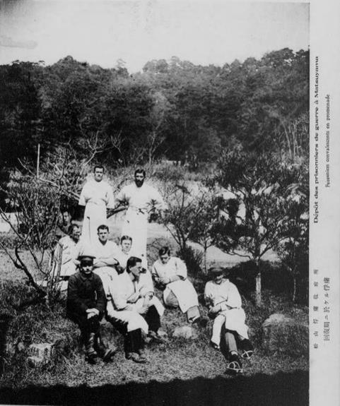 ドイツ兵捕虜松山俘虜収容所回復する捕虜1