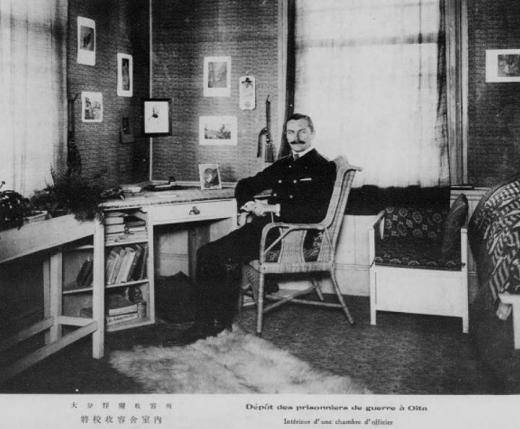 ドイツ兵捕虜大分収容所将校収容舎室内1