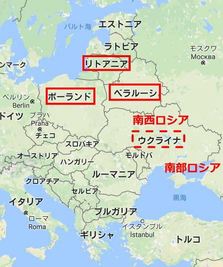 ロシアユダヤヨーロッパ地図1