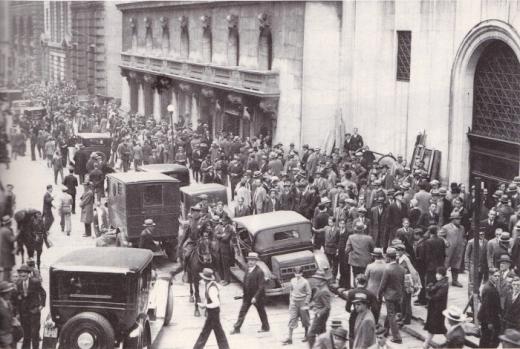世界恐慌ウォール街1929年