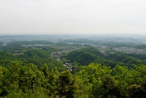 八王子城本丸近くからの眺め