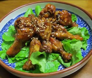 韓国レタスと鶏肉