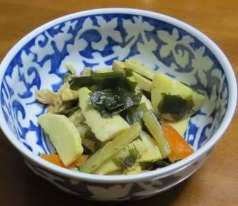 フキとタケノコ煮物5月