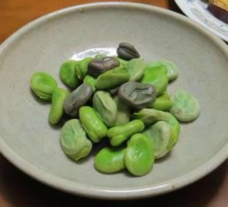 ソラマメのゆで豆