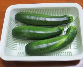 ズッキーニ菜園6月下旬収穫物