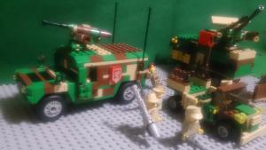 戦線後方に展開するミーアドック装甲指揮車