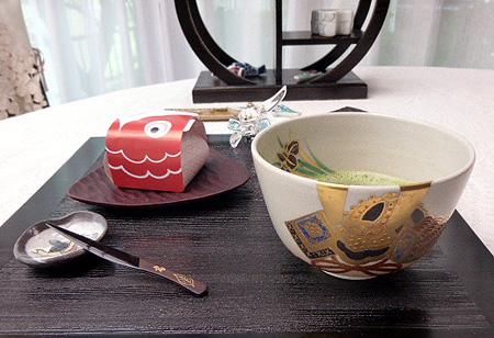抹茶茶碗・兜