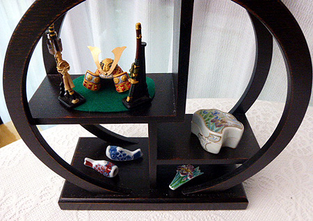 お抹茶テ-ブル丸棚
