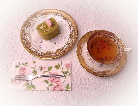 抹茶ロ-ル・ダ-ジリン