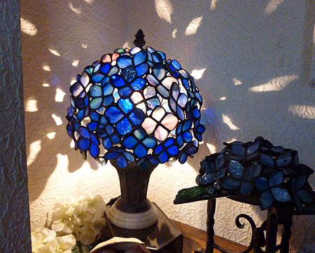 ニッチ紫陽花ランプ1