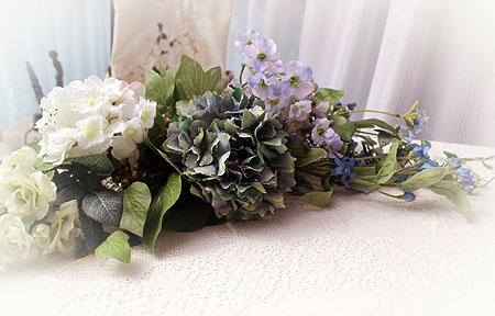 テ-ブル紫陽花