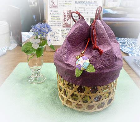 紫陽花籠ギフト