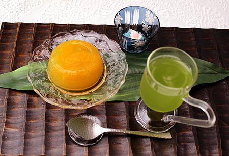 水出し煎茶・デコポンゼリ-