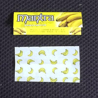 mantra_banana mantra マントラ・バナナ マントラ Smoking フレーバーペーパー スローバーニング バナナフレーバー 手巻きタバコ 巻紙 RYO