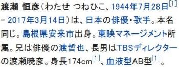 wiki渡瀬恒彦