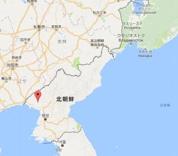 map北朝鮮 平安北道 亀城市