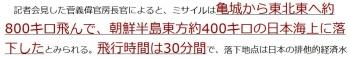 ten北朝鮮、弾道ミサイル発射=30分飛行、日本海落下か―韓国新政権下で初