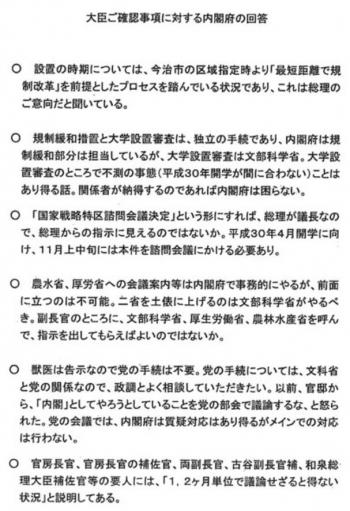 sea総理の意向 文書