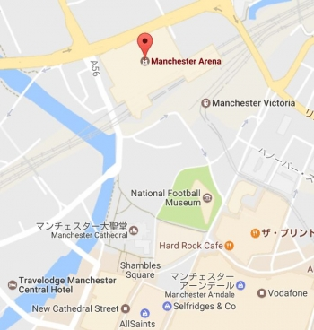 mapManchester Arena