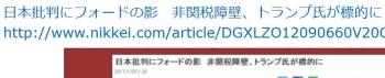 ten日本批判にフォードの影 非関税障壁、トランプ氏が標的に