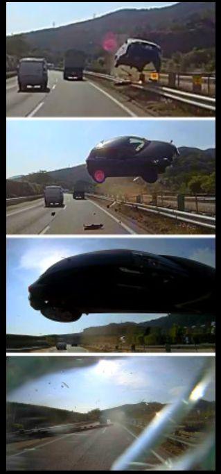 news<東名高速事故>車が空を…その瞬間がドライブレコーダーに