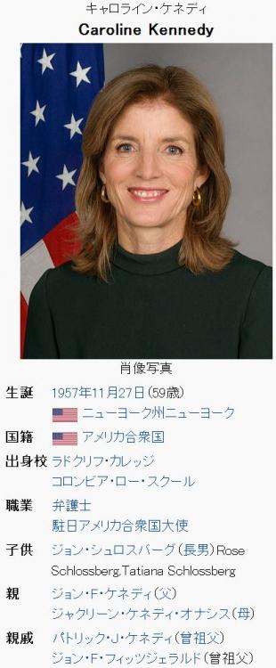 wikiキャロライン・ケネディ
