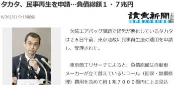 newsタカタ、民事再生を申請…負債総額1・7兆円