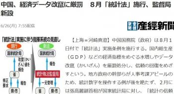 news中国、経済データ改竄に厳罰 8月「統計法」施行、監督局新設