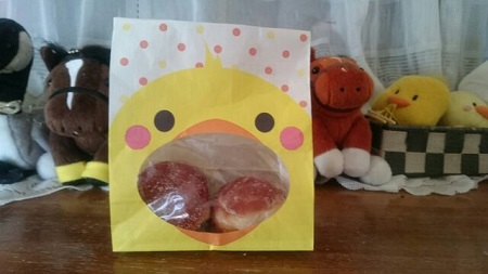ドーナツの紙袋が(≧∇≦)