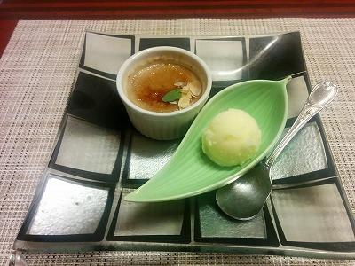 甘夏アイス・紅茶のブリュレ