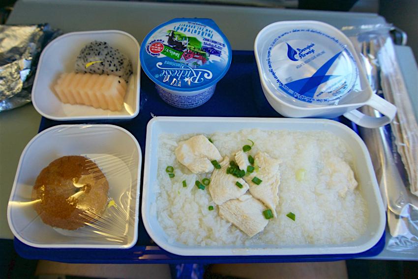 サムイ島旅行記 1日目 バンコクエアウェイズ機内食