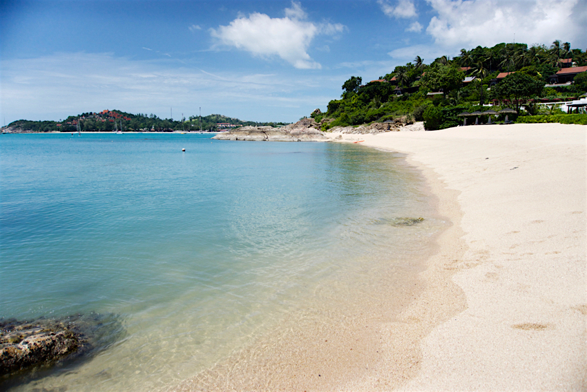 サムイ島旅行記 1日目 The Tongsai Bay Hotel プライベートビーチ3