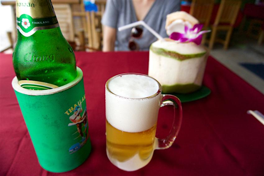 サムイ島旅行記 2日目 KRUA THAI ビアチャン&ココナツジュース