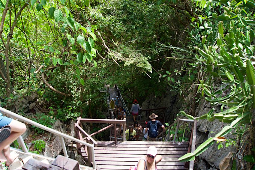 サムイ島旅行記 3日目 アントン海洋国立公園 階段