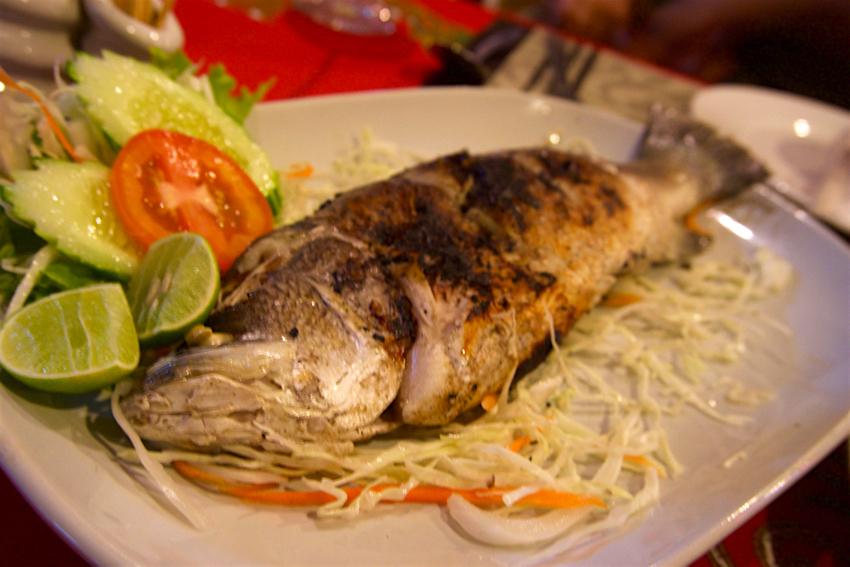 サムイ島旅行記 3日目 ANONG RESTAURANT 魚2