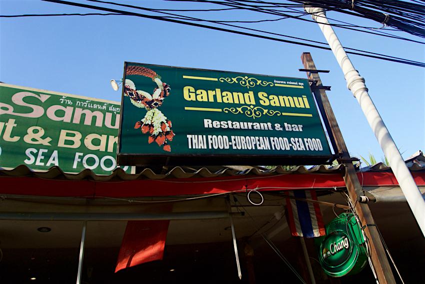 サムイ島旅行記 5日目 Garland Samui Restaurant 外観