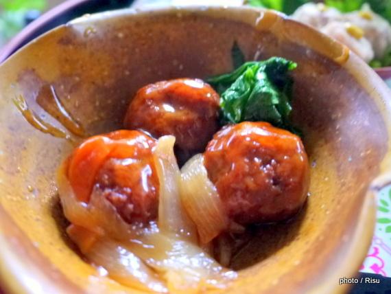 大阪泉州産 玉ねぎと肉団子の甘酢あんかけ|わんまいる 旬の手作りおかず「健幸ディナー」