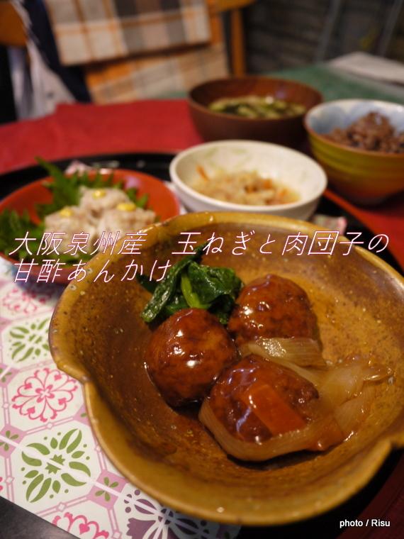 大阪泉州産 玉ねぎと肉団子の甘酢あんかけセット完成|わんまいる 旬の手作りおかず「健幸ディナー」