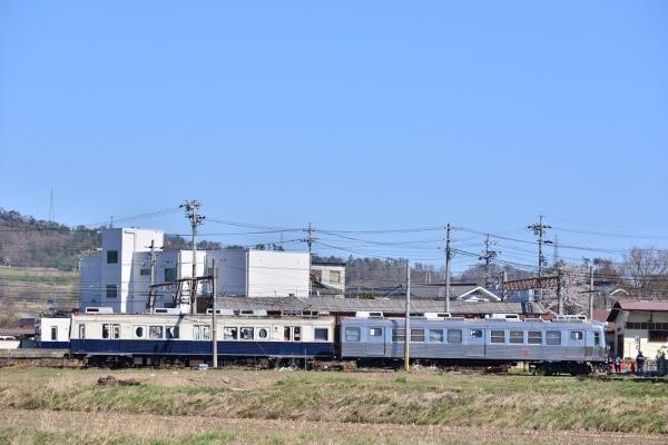 2017年4月23日 上田電鉄別所線 下之郷 1000系1004編成/7200系7255編成/5200系5251号車