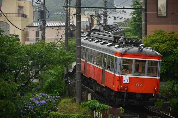 2017年6月18日 箱根登山鉄道線 箱根湯本~塔ノ沢 モハ2形109+モハ1形106-104