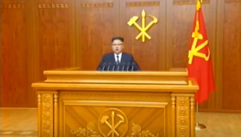北鮮 正恩演説