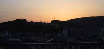 GW 夕方急いで屋上へ