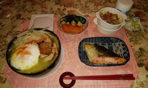 晩御飯 焼き豚作ってちゃんぽん麺