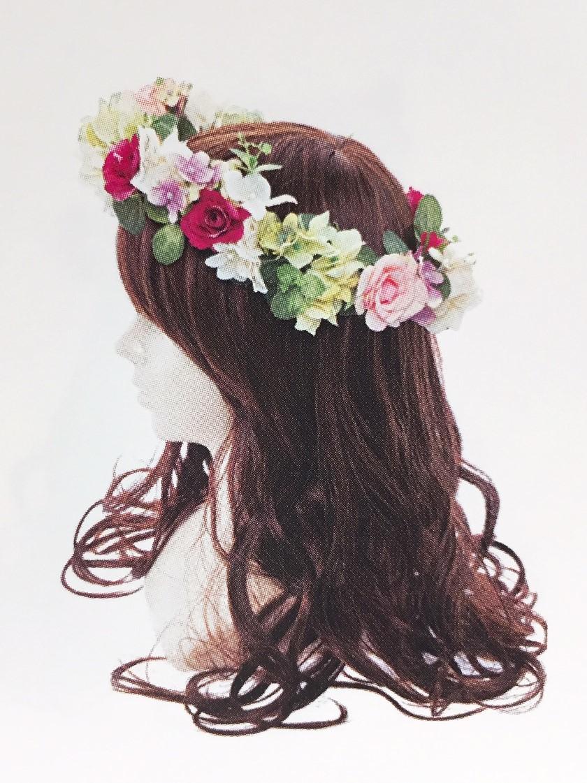 ヘッドドレス 花冠
