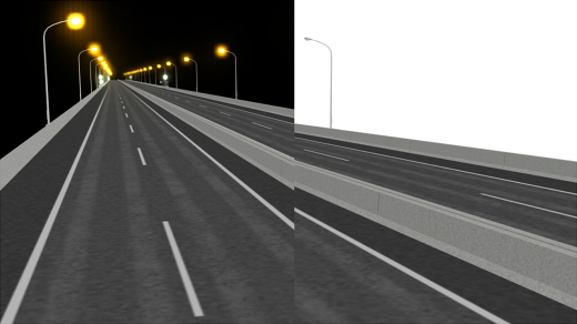 高速道路 昼夜比較