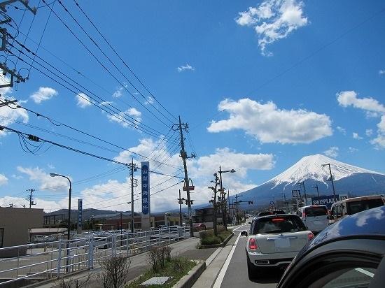 帰り車から富士山